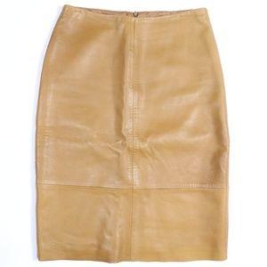 Banana Republic Leather Pencil Skirt
